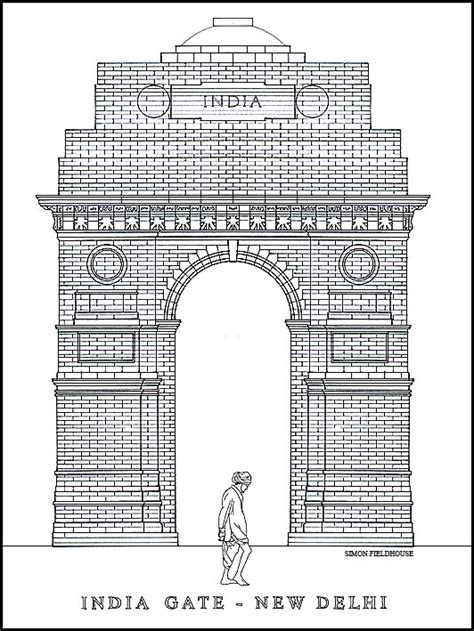 coloring pages of india gate india gate tourmet