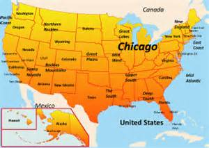 us map where is chicago chicago map us