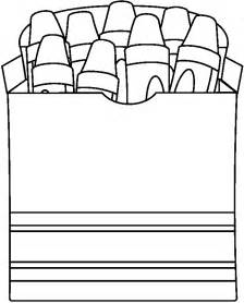 crayon coloring page black and white crayon clipart clipart best