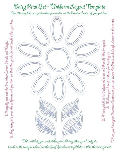 Petal Placement Template 1000 images about scouts on