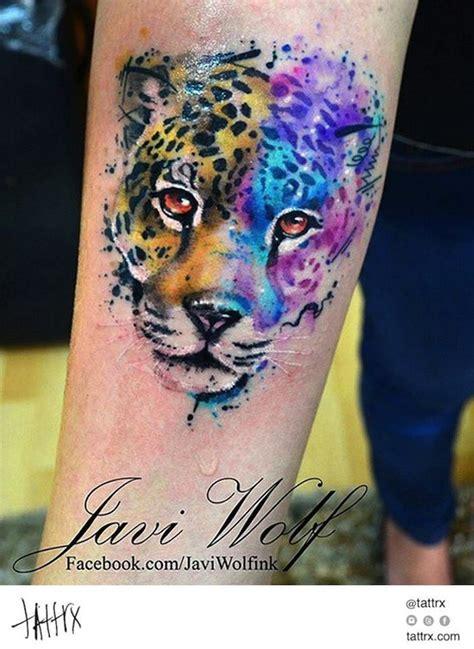 tatuaje acuarela mexico watercolor tattoo by javi wolf