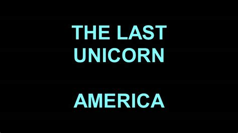 The Last American Soundtrack The Last Unicorn 1982 America Soundtrack