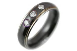 engagement rings mens black zirconium engagement ring