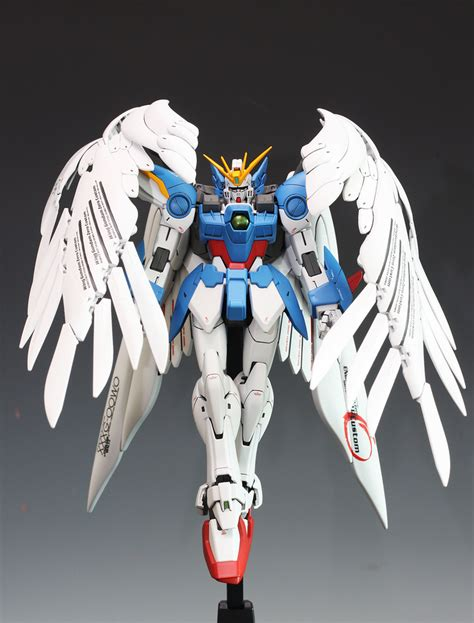 Standbase Hg Standar Custom mg 1 100 wing gundam zero custom assembled painted photoreview no 11 big size images gunjap