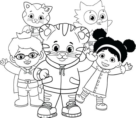 daniel tiger coloring daniel tiger color pages tiger coloring sheets daniel