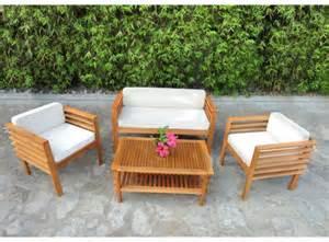 meuble de jardin bois mobilier de jardin en bois pas cher