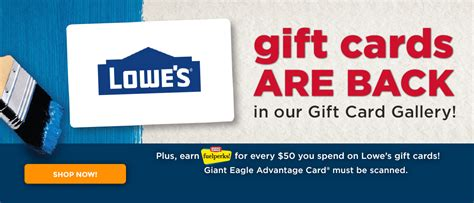 Giant Eagle Gift Cards In Store - lowes gift card at giant eagle photo 1 gift cards