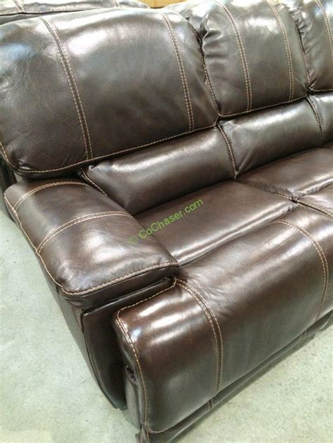 reclining leather loveseat costco costco 4560014 leather power reclining sofa part