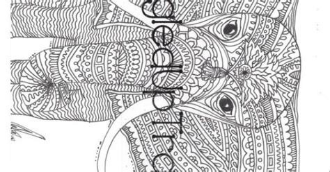 detailed elephant coloring pages detailed and intricate elephant zentangle coloring page to
