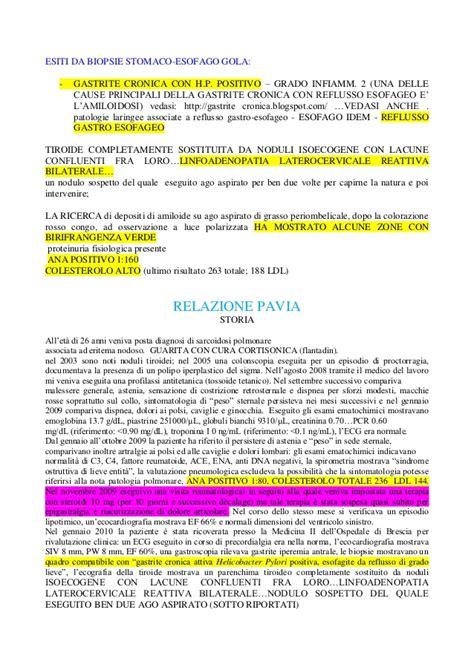 centro amiloidosi pavia prima relazione amiloidosi 2