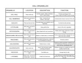 Cell Organelle Chart » Ideas Home Design