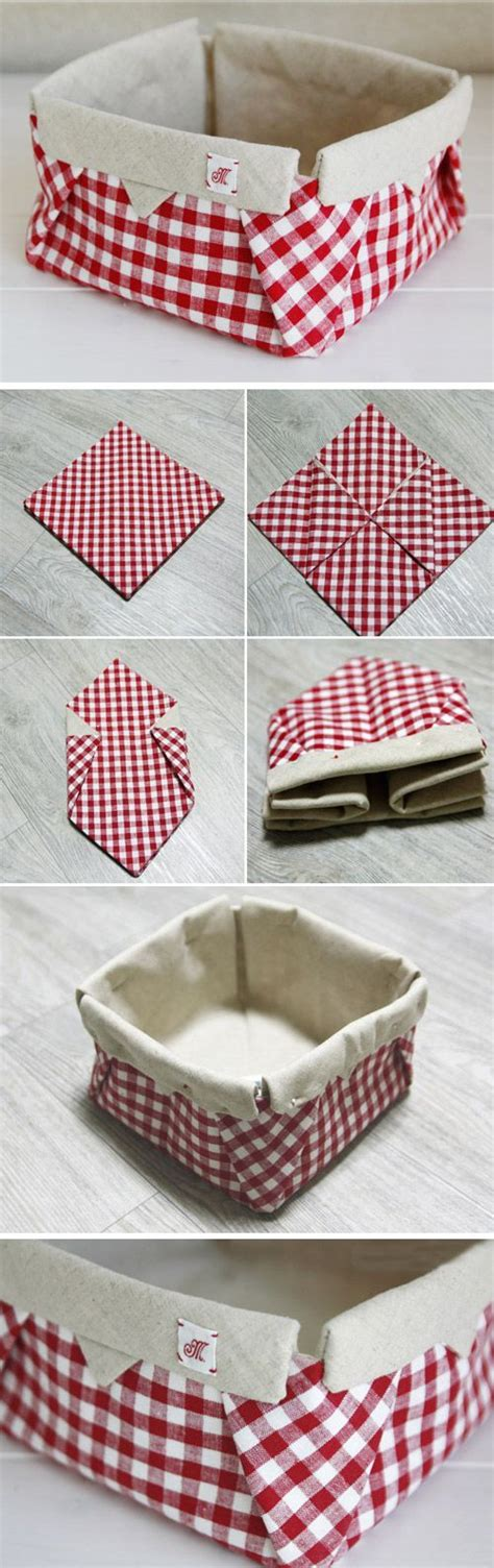 Fabric Origami Box - how to fabric origami box diy tutorial fabric basket