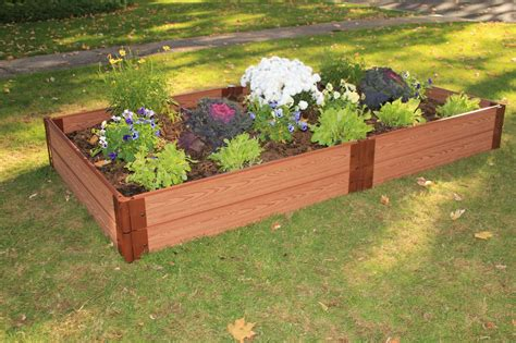 plastic raised garden bed kits one inch series 4ft x 8ft x 11in composite raised