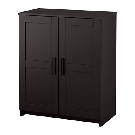 Black Storage Cabinet With Doors brimnes cabinet with doors black