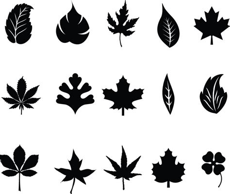 Decorative Trees For Home by Leaves Silhouettes Vector Vector Graphic Freebies Eps