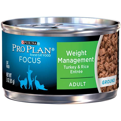 weight management for cats pro plan focus weight management canned cat food petco