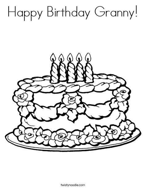 happy birthday pop coloring page happy birthday granny coloring page twisty noodle