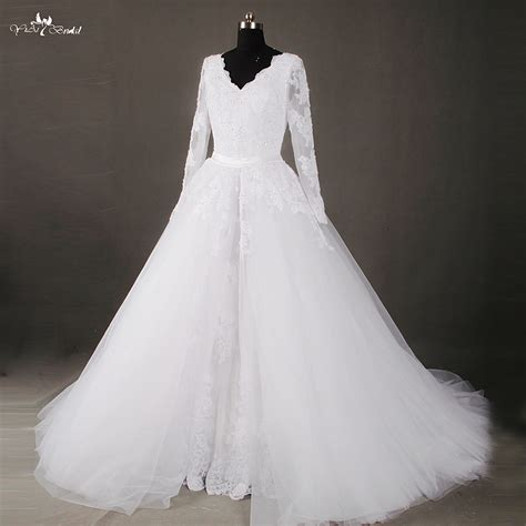wedding dresses with removable skirts aliexpress buy rsw807 two vintage lace