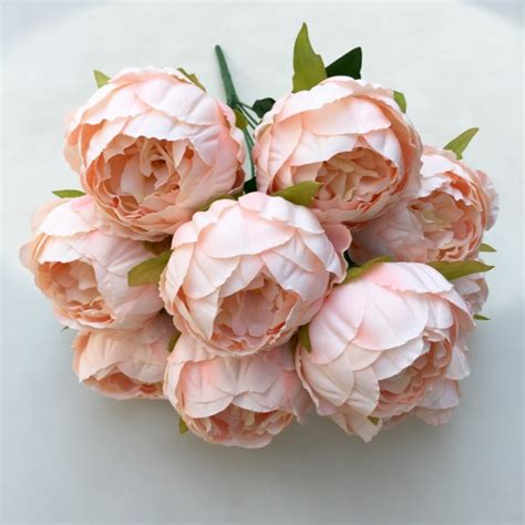 heads vintage artificial peony silk flower wedding home decor picture decorative paper flower picture more detailed picture