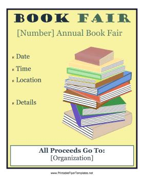 book flyer template book fair flyer