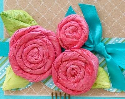Tissue Paper Roses - how to make tissue paper flowers 8