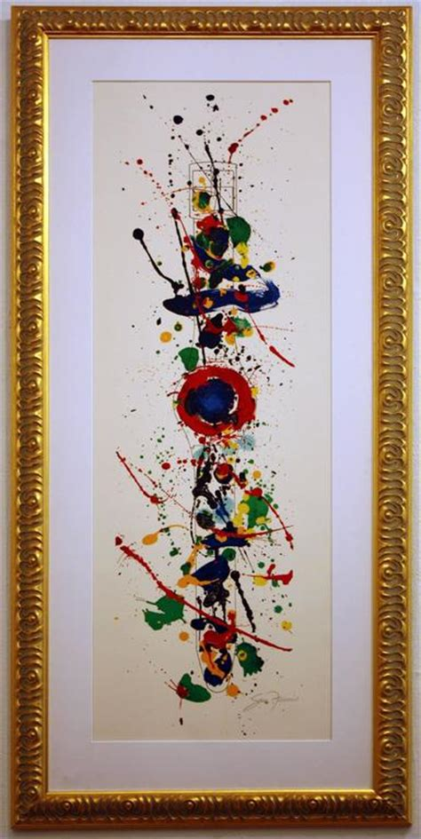 Style White L271 sam francis swatch print at 1stdibs