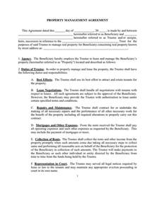 property manager agreement template property management agreement sle in word and pdf formats