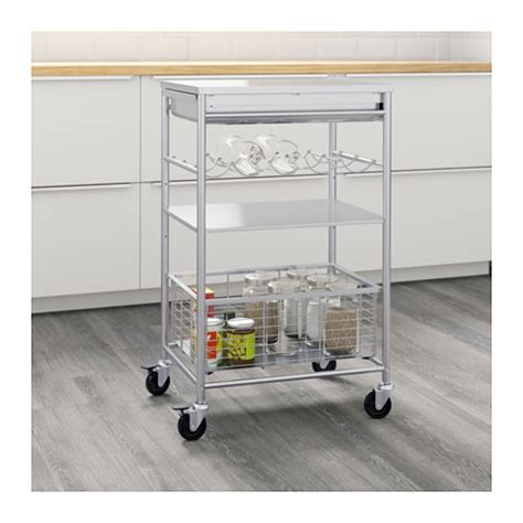 Kitchen Island Trolley Perth Wa Grundtal Kitchen Trolley Stainless Steel 54x41x90 Cm Ikea