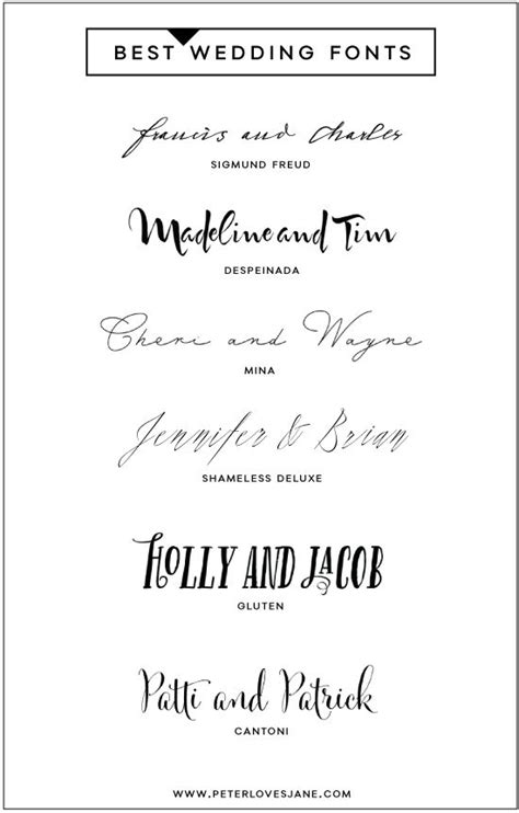best wedding invitation font typography wedding and texts on