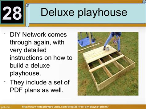 Outside Playhouse Plans by 28 Free Diy Playset Plans For Your Backyard