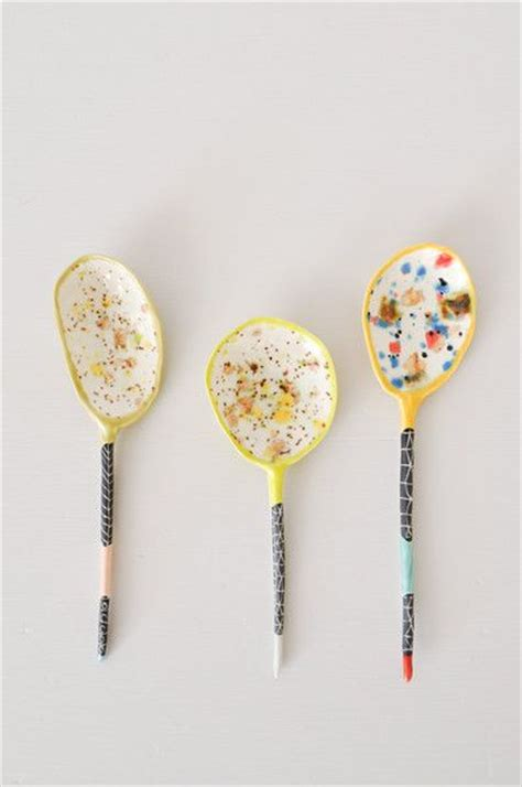 Handmade By Suzanne - colored ceramic spoon handmade by artist