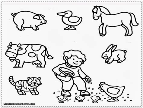 Animals Coloring Page by Farm Animal Coloring Pages Realistic Coloring Pages