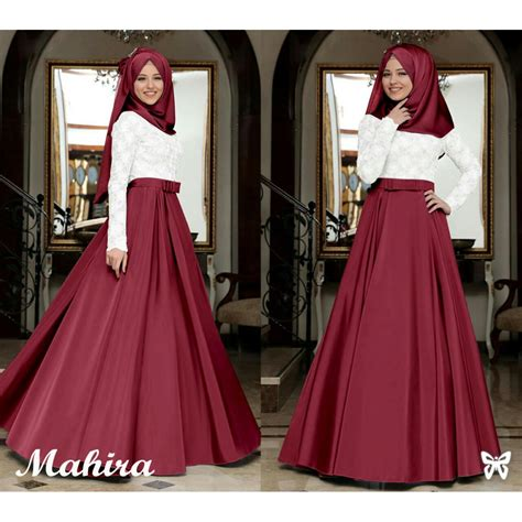 Aida Maxi Biru ayako fashion dress muslim maxi safirah ungu daftar