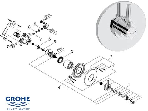 Grohe Showers Spare Parts by Grohe Avensys Modern Dual Recessed 34224 000 Shower