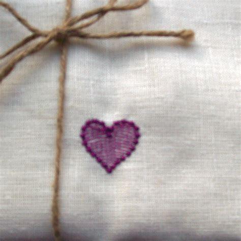 heart pattern towel linen towel heart embroidery