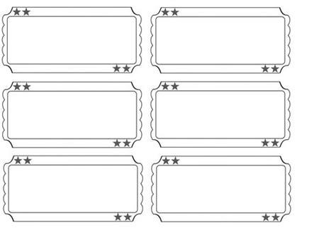 printable blank raffle tickets printable raffle tickets blank kids google search