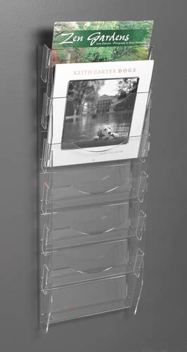 clear acrylic note card ladder   vertical pockets