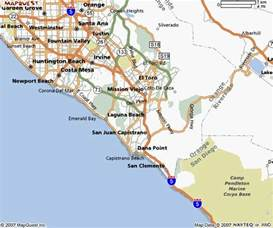 southern california city maps orange county map