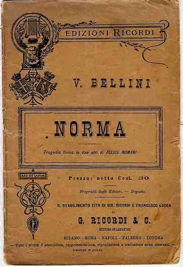 casta libretto norma opera wolna encyklopedia
