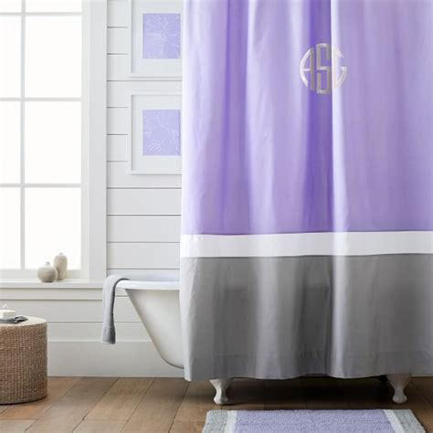 color block shower curtain color block shower curtain lavender pbteen
