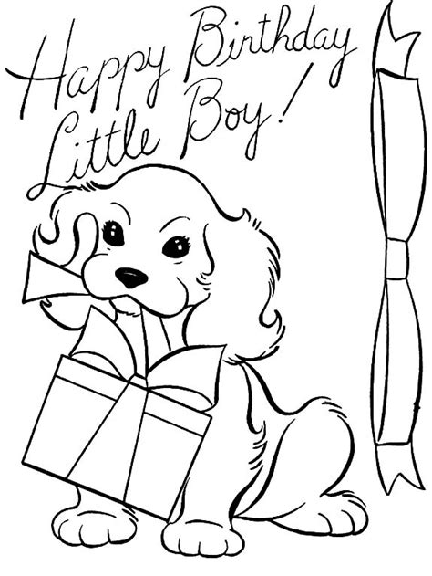 birthday coloring page for boy happy birthday little boy coloring pages happy birthday