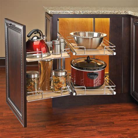 rev a shelf 18 in corner cabinet pull out chrome 3 tier rev a shelf 599 18 rmp two tier blind corner organizer