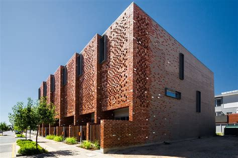 Home Design Landscaping Software Examples by Brick Brise Soleil Eight Perforated Brick Facades