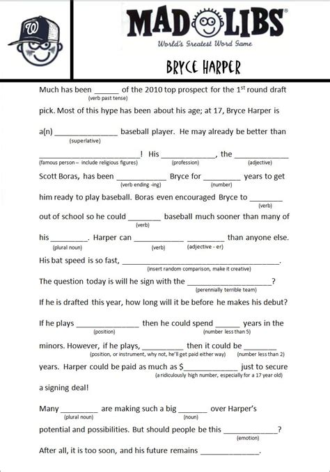more hardball mad libs bryce harper
