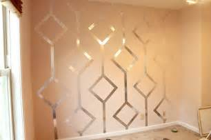 walls with diy metallic patterns how about orange