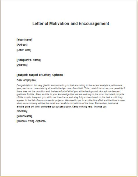 Motivation Letter To Employees letter of motivation and to staff writeletter2