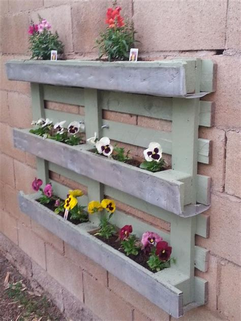 diy planter ideas shipping pallet wall planter box ideas pallets designs