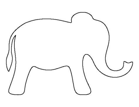 elephant cut out template simple elephant pattern use the printable outline for