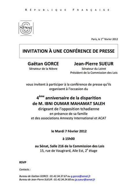 Exemple De Lettre D Invitation Colloque modele lettre invitation festival
