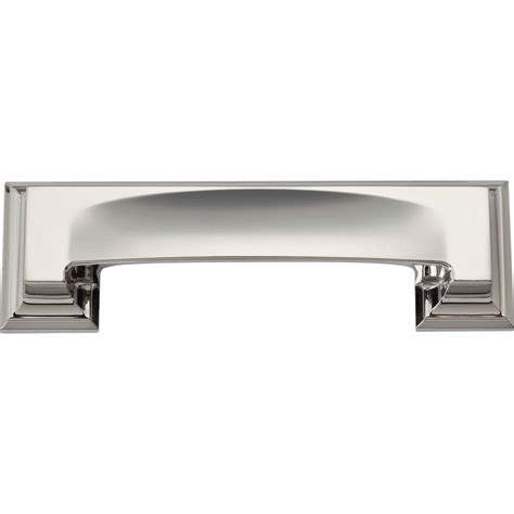 Dresser Drawer Pulls Home Depot by Atlas Homewares Paradigm Collection 5 In Polished Nickel